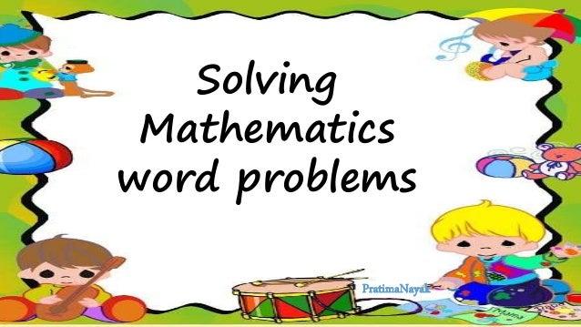 Solving Mathematics word problems