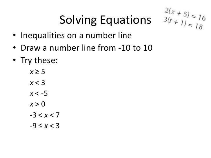Drawing Lines With Equations : Solving equations