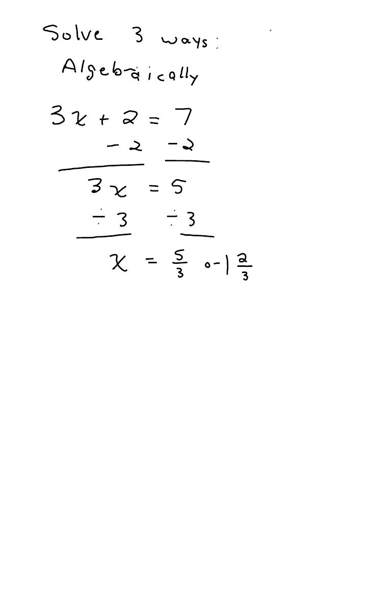 Solving Equations Multiple Ways