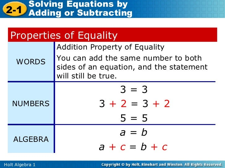 Solving equations using addition and subtraction – Solving Equations by Adding or Subtracting Worksheets