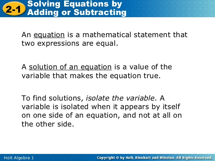 Solving Equations Using Addition And Subtraction Worksheets best – Solving Equations by Adding or Subtracting Worksheets
