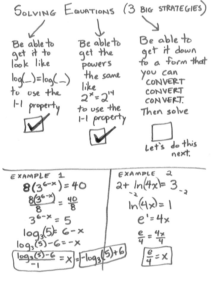 Solving Exponential or Logarithmic Equations