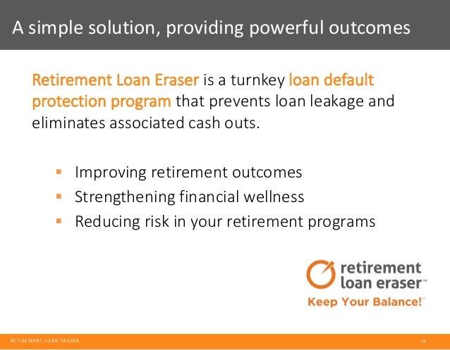 Solving For Retirement Plan Leakage