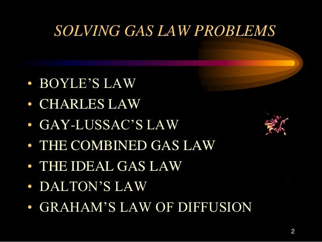 Solving Gas Laws