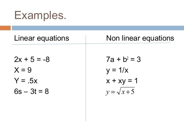 Images of Linear Equation Examples - #rock-cafe