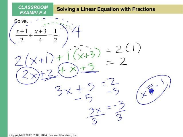Solving Linear Equations with Notes