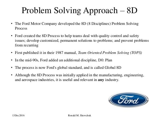 ford 8d problem solving