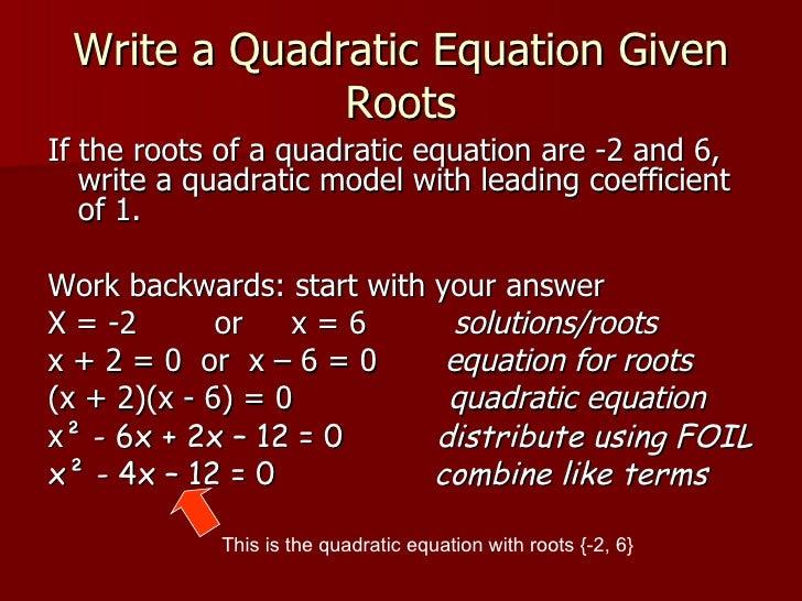 Write a system of equations that has no solution quadratic equation