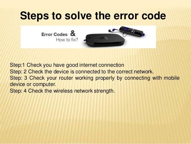 Getting Error Code in Roku Software Update?