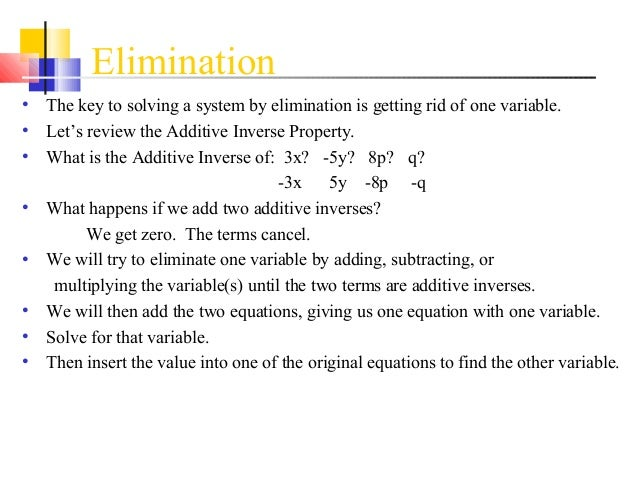 Solving systems of equations algebraically 2