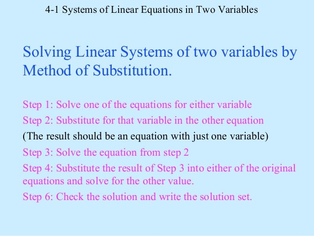 Write a system of linear equations with one solution