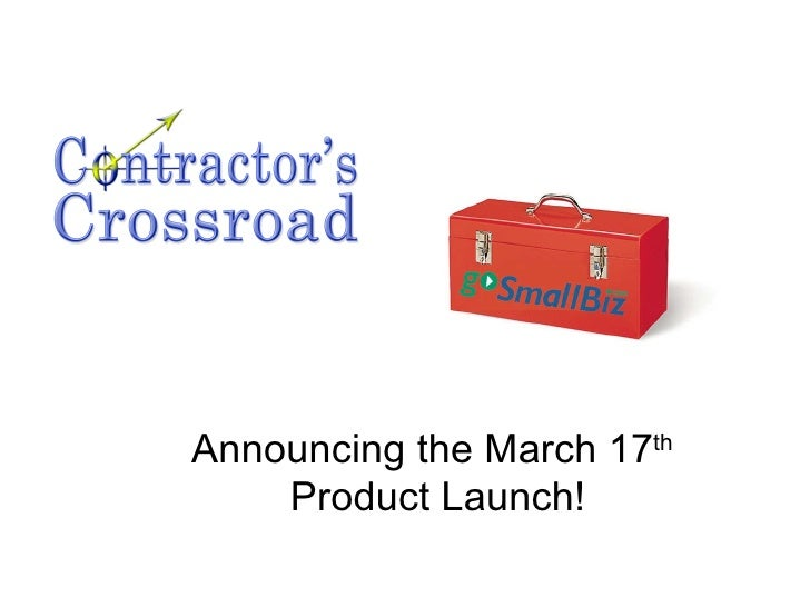 Announcing the March 17 th   Product Launch!