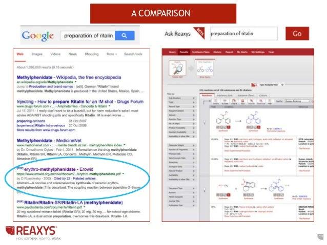 solving tough chemistry problems using reaxys a comparison 19
