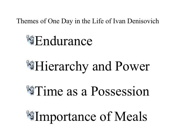 the theme of hope in one day in the life of ivan denisovich One day in the life of ivan denisovich (1962) novel narrates a normal day in the life of a labor camp inmate serving a ten-year sentence after being hoping against hope that the temperature will be colder than -41o because below that temperature no.