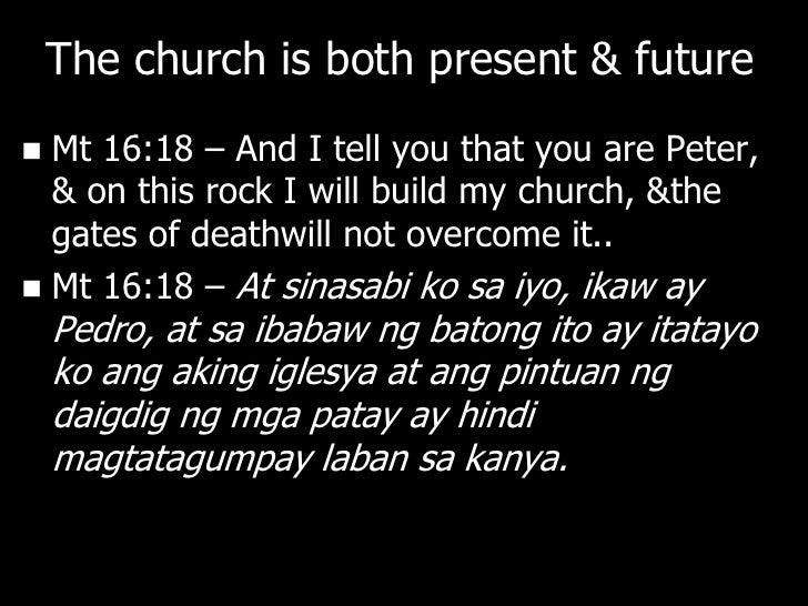 """NGAYON             May magandang               Kinabukasan              ang sanlibutan          The Church is """"God's provi..."""