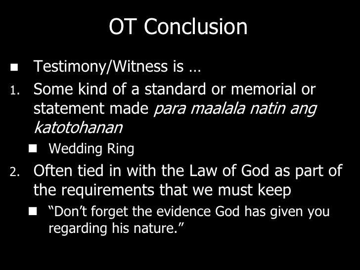 MARTURIA: NT   Testimony is essential to proving your case.    Ang patotoo ay mahalaga sa pagpapatunay    ng kaso.   Tes...