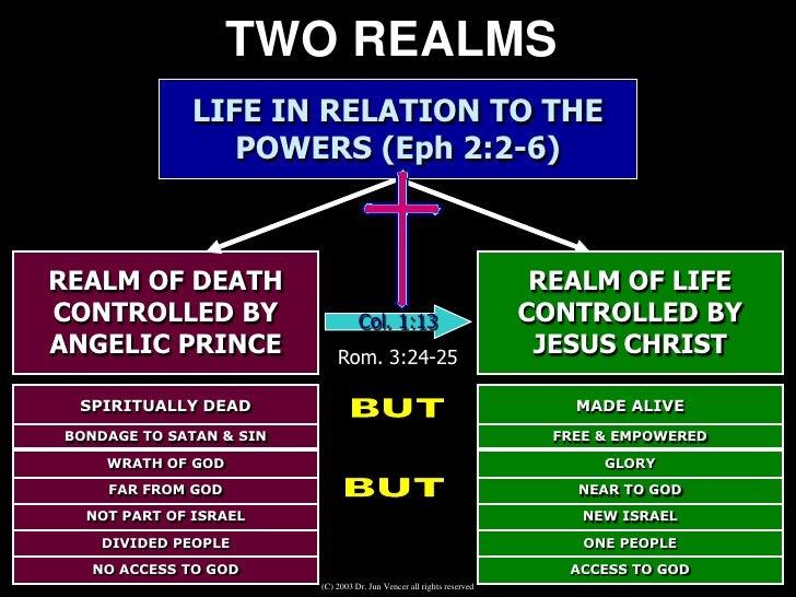 WORK OF CHRIST ON THE CROSS             SINNERS                                                                SATAN      ...