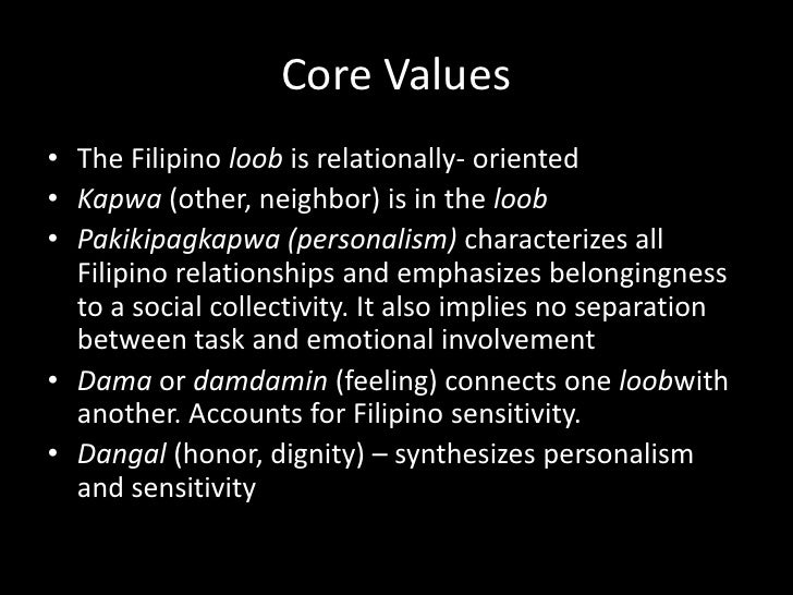 Contrasts between Western& Filipino value      orientations (F. LandaJocano)        Western                               ...