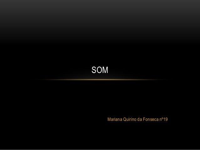 SOM  Mariana Quirino da Fonseca nº19