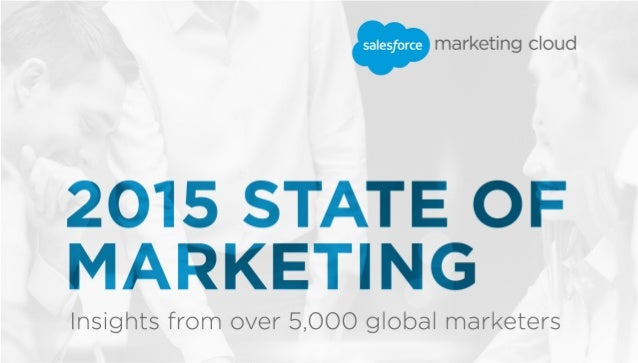 2015 State of Marketing In the fall of 2014, we surveyed 5,000+ global marketers about their top priorities for 2015 acros...
