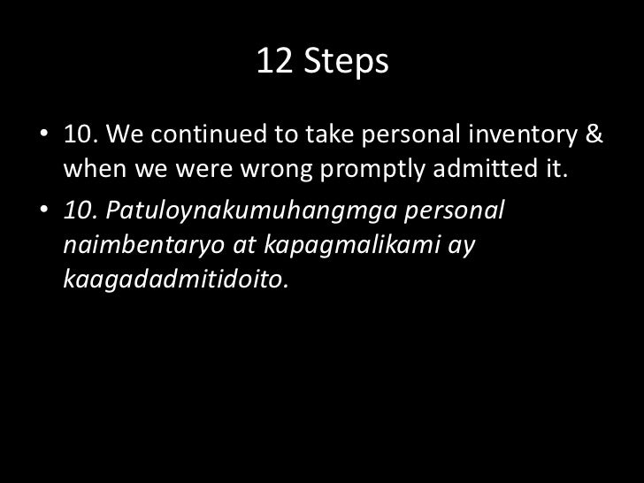12 Steps<br />9. We made direct amends to such people wherever possible, except when to do so would injure them or others....