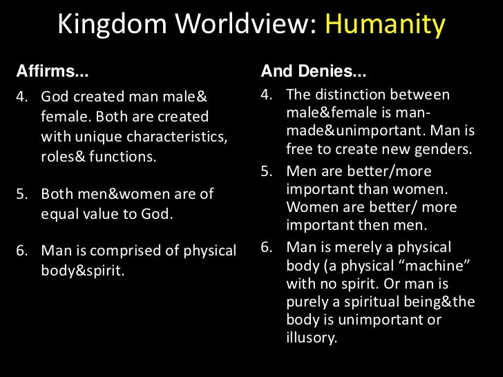 Kingdom Worldview: Ultimate Reality<br />Affirms...<br />And Denies...<br />The spiritual realm is home to created, spirit...
