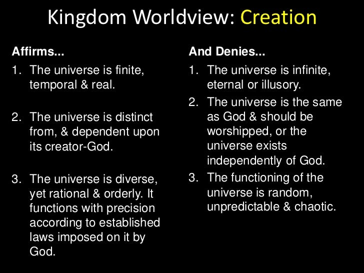 Kingdom Worldview: Humanity<br />Affirms...<br />And Denies...<br />God has given man the unique responsibility & the nece...
