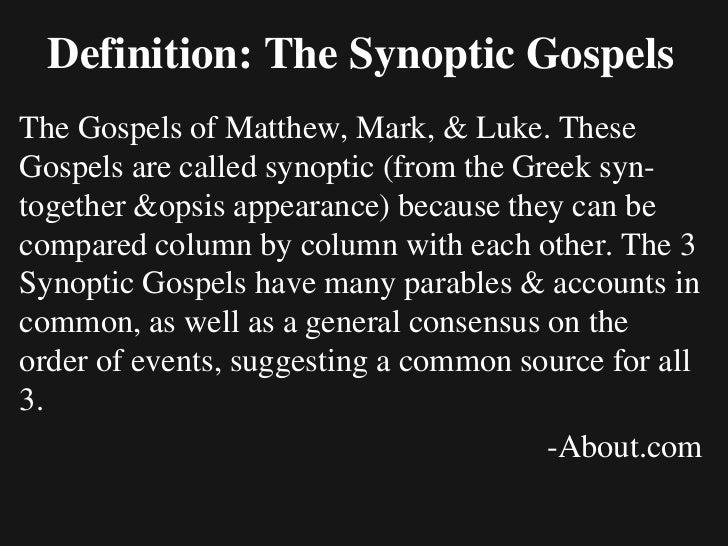 Interpreting the Gospels    Salaysay/ Narrative    Talinghaga/ Parable