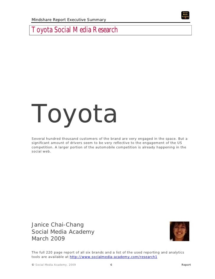 toyota executive summary The following is a summary of the keynote speech by dr gill pratt, executive  technical advisor, toyota motor corporation and ceo, toyota research institute ,.