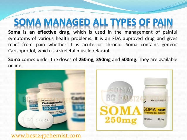 what is carisoprodol soma