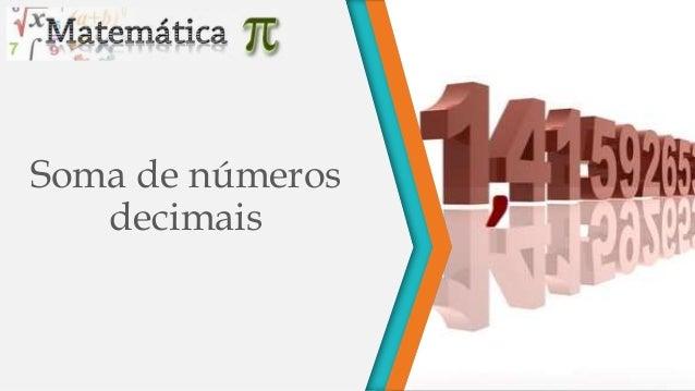 Soma de números decimais