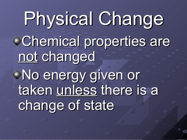 physical and chemical changes of matter pdf