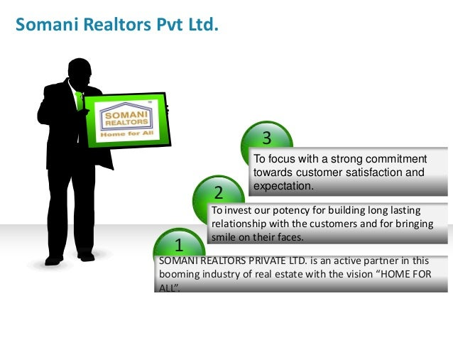 Somani Realtors Pvt Ltd.  3 2 1  To focus with a strong commitment towards customer satisfaction and expectation.  To inve...