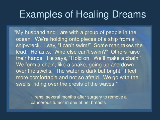 Somatic Contributions To Dreaming Healing Dreams