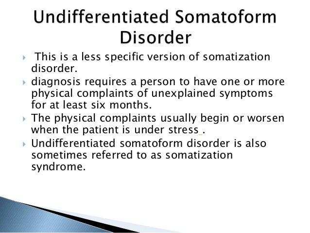 Somatization disorder - Wikipedia