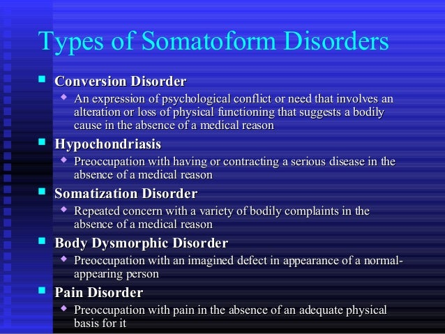 Somatoform disorder case study