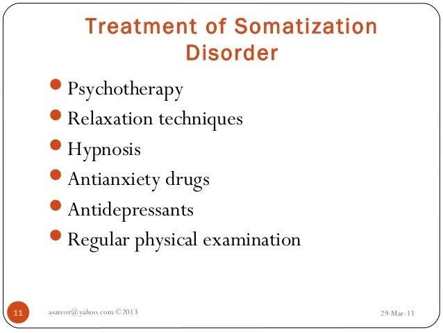 Somatoform disorders (psychophysical problems)