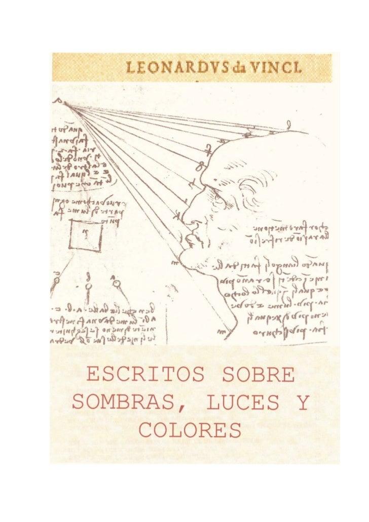 ESCRITOS SOBRE SOMBRAS, LUCES YCOLORES
