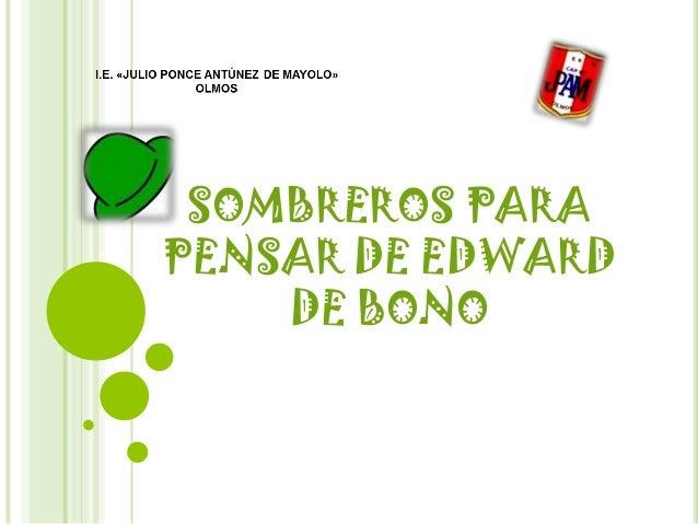 SOMBREROS PARA PENSAR DE EDWARD DE BONO