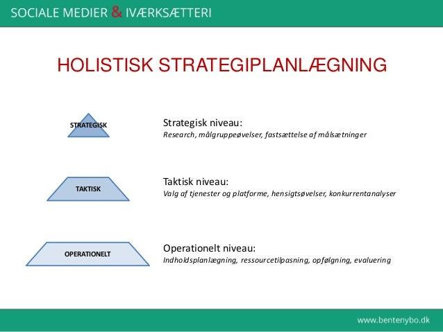 Hjemme/proaktivt 1 Hvor er vores målgruppe? 2 Vælg den vigtigste platform 3 Lav konkurrentanalyse for den platform 4 Lav m...