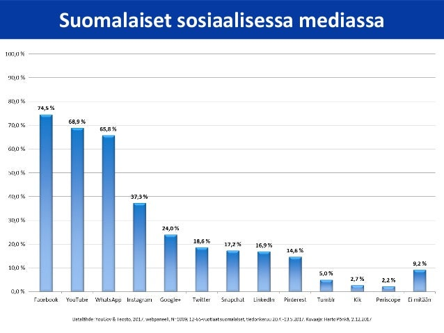Sosiaalisen median katsaus 12/2017 Slide 3