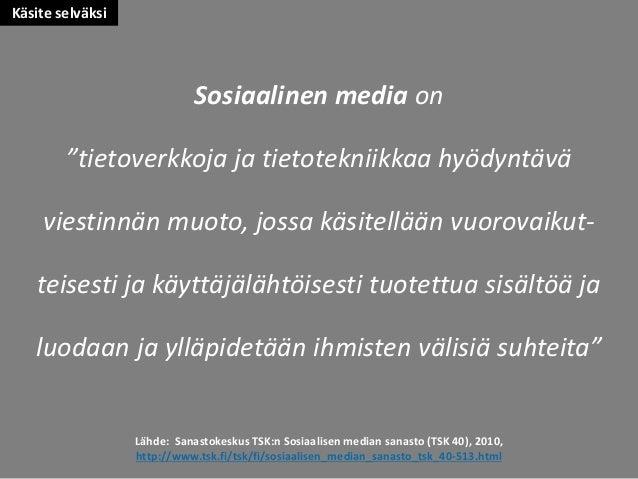 Sosiaalisen median katsaus 02/2015 Slide 2
