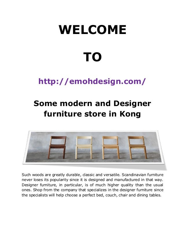 some modern and designer furniture store in kong