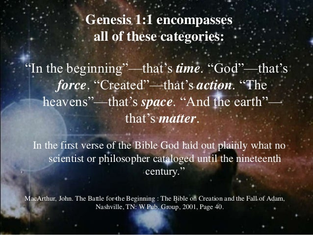 EARTH DAY Some apologetic implications of genesis 1.1 public