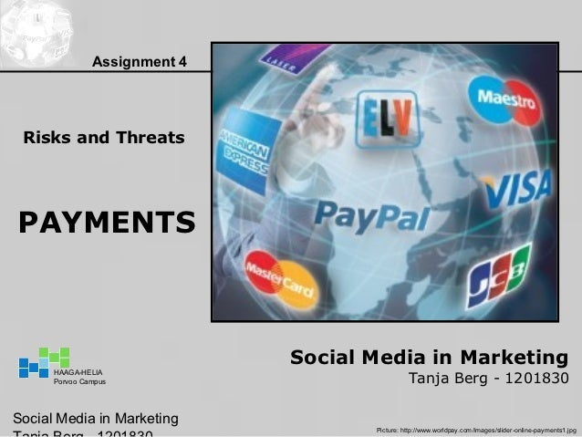 Assignment 4 Risks and ThreatsPAYMENTS                              Social Media in Marketing                             ...