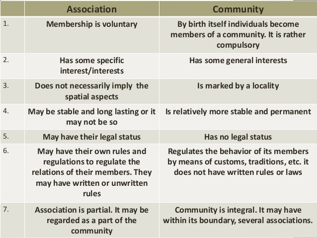 concept of community in sociology pdf