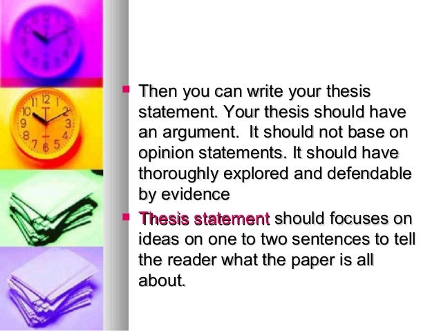 Thesis writing tips notes
