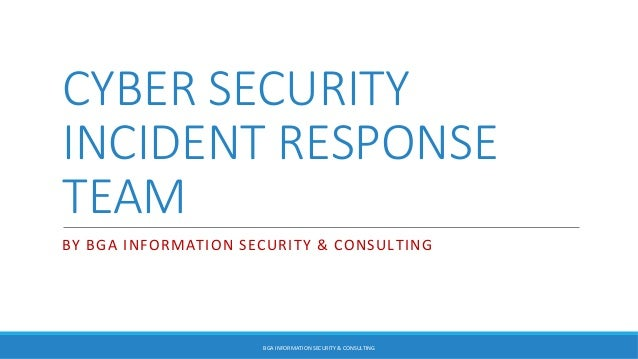Computing Incident Response Team (CIRT) Policy