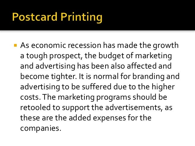 Postcard A serious effort should be made to achieve the sustainable success despite the condition of our economy. Printing...