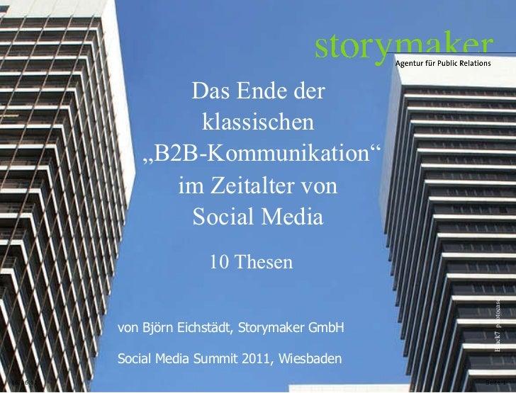 """16.06.11 Seite  Das Ende der klassischen Black7  photocase """" B2B-Kommunikation"""" im Zeitalter von Social Media 10 Thesen vo..."""